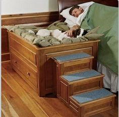 I LOVE AND NEED THIS!! My 3 dogs take up my bed this will definitely help!! ❤