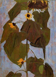 """egonschiele-art: """"Sunflower, 1908 Egon Schiele """""""