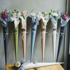 Cone bouquets!