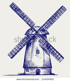 windmill drawing - Google Search