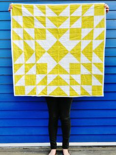 Meghan Yellow Patchwork Quilt by HeyBabyCraftCo on Etsy