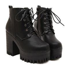 Fashionable Women's Short Boots With Lace-Up and Black Design