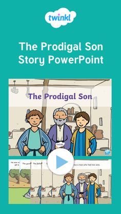 Teach your preschool or lower primary school children the story of The Prodigal Son with this colourful illustrated PowerPoint for kids. Bible Stories For Kids, Bible For Kids, Bible Lessons, Lessons For Kids, Prodigal Son, Bible Teachings, Religious Education, Sunday School Lessons, Bible Crafts