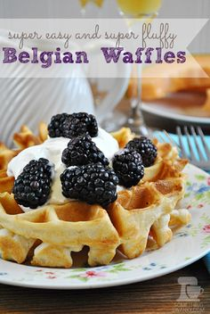 Easy and Fluffy Belgian Waffles - these were delicious!!! Added some extra sugar & vanilla & didn't do nutmeg. Soooo good!!!