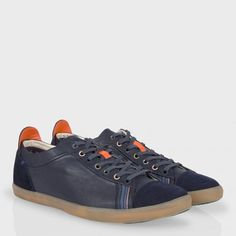 Paul Smith Men's Shoes | Navy Leather Vestri Trainers