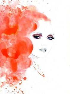 Lily Cole Watercolour Illustration by Carol Ryder