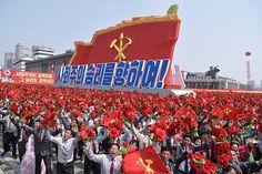 위대한 수령 김일성동지 탄생 105돐경축  열병식 및 평양시군중시위 성대히 거행
