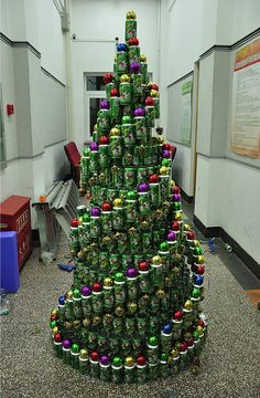 soda can christmas tree - Google Search
