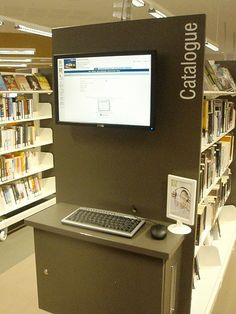 Bay end opac, Wyndham Vale Library, Victoria.  Useful for clients doing their own searching, or staff members being able to assist at point of need.