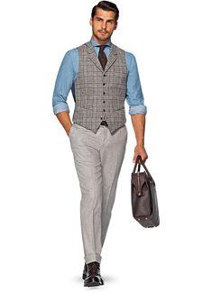 Waistcoat Blauw W150207 | Suitsupply Online Store
