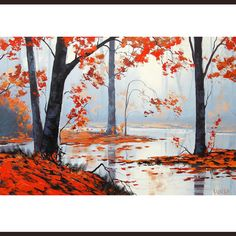 Hey, I found this really awesome Etsy listing at https://www.etsy.com/listing/108909821/autumn-trees-oil-painting-wall-decal-art