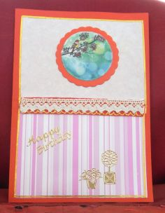 Birthday card from odds and ends