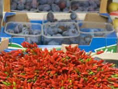Market Tour at Rione Testaccio and Cooking Class with Chef - Bunch of Hot Peppers #Food #ItalyXP #WeLoveItalyXP #Italian #Style #Travel #Trip