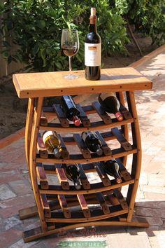 wine+barrel+furniture | Home Wine Barrel Wine Racks WINE BARREL MATTEO WINE RACK