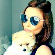 Nada melhor como começar o dia ganhando um carinho do seu #pet  ❤ #Dior #sideral #diorsideral2 #OticasWanny #love #dog #saturday #sabado #mariana #sampaio #marisampaio #diorsideral #oculos #gatinho #blogueira