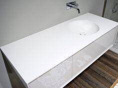 Antonio Lupi Design® BACINO Corian® washbasin countertop Design By  Nevio Tellatin (2009)