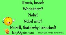 Enjoy these funny knock knock jokes and puns. They are funny, silly and will everyone laugh. Also, check out our other funny jokes categories. Funny Family Jokes, Funny Jokes And Riddles, Puns Jokes, Corny Jokes, Stupid Jokes, Mom Jokes, Funny Jokes For Kids, Some Funny Jokes, Funny Jokes To Tell