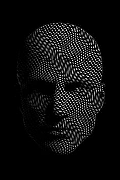 New version of the textured face.From Optiwaves pic of the day, good night. Graphic Design Tips, Graphic Design Typography, Arte Robot, Digital Art Gallery, Futuristic Art, Cyberpunk Art, Illusion Art, Foto Art, Psychedelic Art