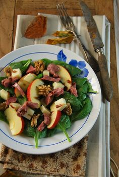 Salade composée automnale aux épinards et gésiers