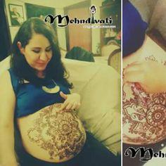 Original design by  @mehndivali_susy_medina  on baby bump  Citas por inbox de la pag.  www.facebook.com/susymehndina88  #Aguascalientes #México #henna #mehndi #art #arte #tatuajes #tattoo #embarazada #pregnan  #babybump #vientre