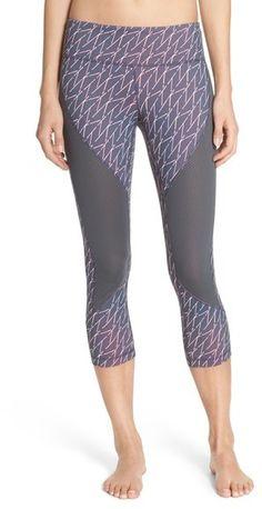 Great leggings with mesh inserts. Zella 'Live In - Tango' Crop Leggings