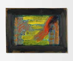 Howard Hodgkin B. 1932 YOU AND ME titled on the reverse, oil on panel, in painted artist's frame 43.2 by 59.1 cm. Executed in 1980-82.