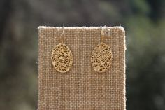 Peach Roots - Overlapped Twigs in Oval Earrings, $11.50 (http://peachroots.com/overlapped-twigs-in-oval-earrings/)