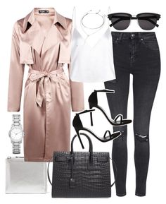 """""""Untitled #20324"""" by florencia95 ❤ liked on Polyvore featuring Comme des Garçons, Topshop, Boohoo, Yves Saint Laurent, Forever 21 and Burberry"""