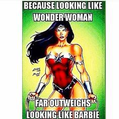 Wonder Woman > Barbie #fitfluential
