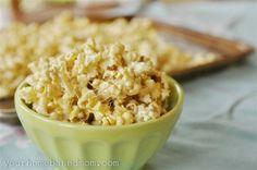 Marshmallow Popcorn Recipe on TodaysMama.com #treats #popcorn #marshmallows