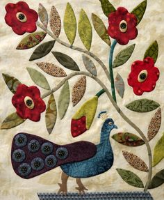 The Civil War Bride Quilt: Peacock