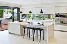 Modern kitchen island and breakfast bar