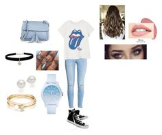 """""""Rolling Stones Concert"""" by samikuhbander on Polyvore featuring MANGO, Converse, KC Jagger, Betsey Johnson, Lacoste, AK Anne Klein and Loren Stewart"""