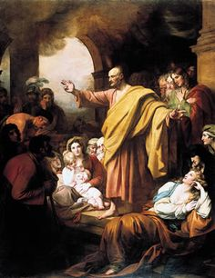 St. Peter Preaching at Pentecost - Benjamin West