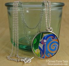 Soda Can Swirl Resin Pendant Tutorial - several interesting processes here, soda can collage & UV cured resin  ************************************************   Bzzy Little Bee - #resin #bezel #pendant #jewelry #crafts #upcycle #soda #aluminum #can #beverage #recycle - tå√