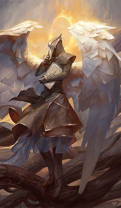 Raziel, Angel of Mysteries by PeteMohrbacher on DeviantArt (detail)