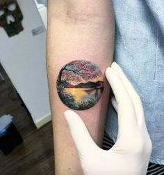 Possibly the best landscape tattoo ever? by Eva Krbdk