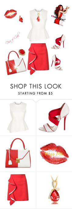Lady in Red by Diva of cake featuring mode, Alexander Wang, MSGM, Oscar de la Renta and Mark Cross