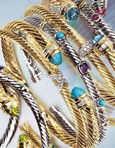 David Yurman gold bracelets (said like Homer Simpson staring at a donut) Jewelry Box, Jewelery, Jewelry Accessories, Fine Jewelry, Women Jewelry, Fashion Jewelry, Fall Accessories, Stackable Bracelets, Gemstone Bracelets