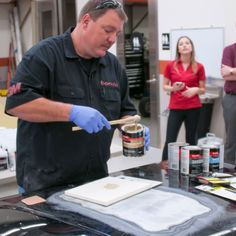 """The experts at the Family Handyman attended 2017 """"Boot Camp"""" at Chip Foose's Garage to learn dent repair tips from the pros. Auto Body Repair, Car Repair, Vehicle Repair, Auto Body Work, Damaged Cars, Chip Foose, Car Hacks, Diy Car, Car Painting"""