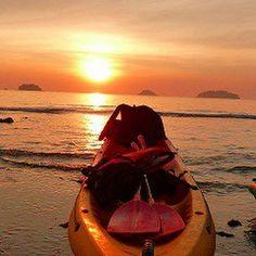 タイで二番目に大きな島 チャーン島での夕陽