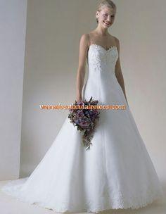2013 Elegante Brautkleider mit Applikation aus Satin A-Linie online