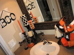 Halloween Bathroom - Two Peas in a Bucket