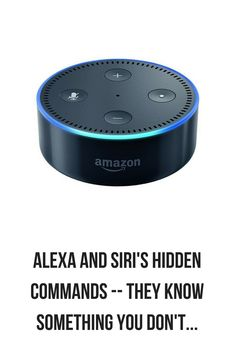 Have you heard about the Alexa and Siri's hidden commands? Researchers recently revealed these AI are way smarter than you thought they were. Alexa Dot, Alexa Echo, Amazon Dot, Amazon Echo, Smart Home Technology, Technology Gadgets, Tech Gadgets, Alexa Tricks, Ipad Pro Tips