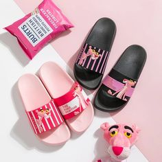 2019 Naughty Panther Slippers Female Home Summer Indoor Non-slip Bath Cute Cartoon Shoes Fashion Wear Sandals And Slippers Cartoon Shoes, Cute Cartoon, Fashion Wear, Fashion Shoes, Soft Slippers, Women Slides, Pink Panthers, Womens Slippers, Korean Fashion