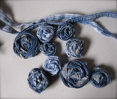 Sewing & Ripping, Etc.: Blue Jeans Revolution {Rosettes}