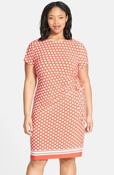 Eliza J Side Tie Jersey Sheath Dress (Plus Size) available at #Nordstrom