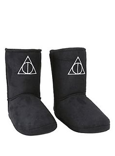 Your feet will feel magical // Harry Potter Deathly Hallows Slipper Boot