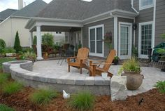 patio design ideas with pavers | Grey Paver PatioPaver PatioInside Out Design, LLCFrankfort, KY