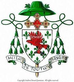 Coat of arms ( Ecclesiastical heraldry, heraldic art, heraldic artist, heraldic painter, custom coats of arms, Heraldry, Heraldic paintings ) hand painted by Andrew Stewart Jamieson